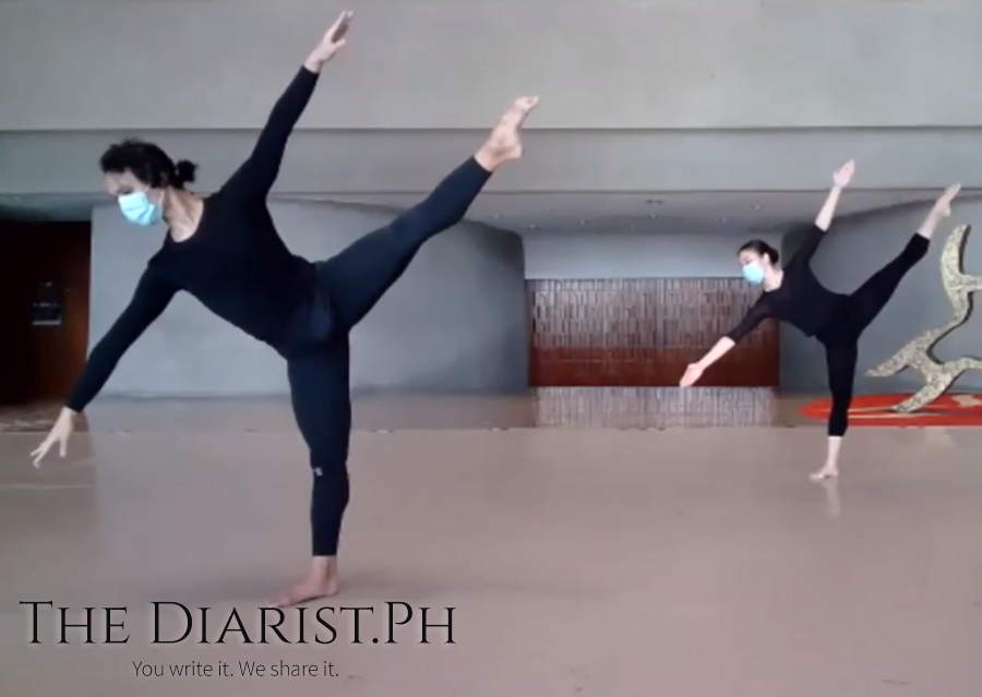 Faculty of the CCP Dance Workshop demonstrating Graham technique of modern dance
