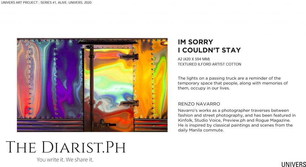 Im sorry I couldnt stay by Renzo Navarro