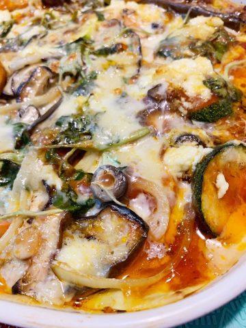 Vegetable lasagna <br> for a change
