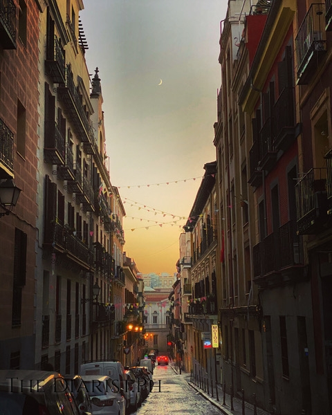 A quiet street in one of my favorite districts in Madrid: Malasaña.