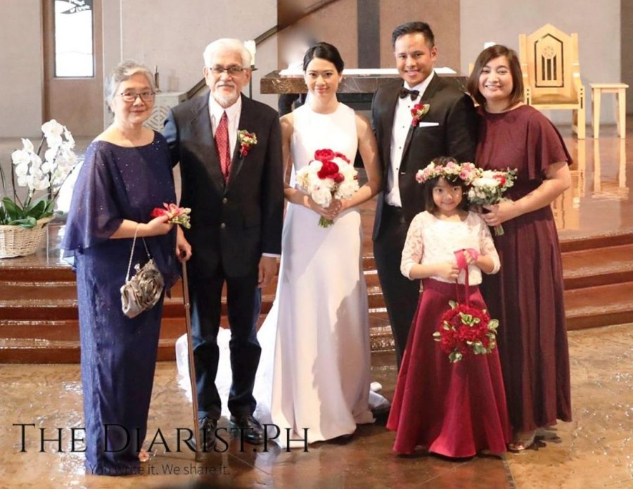 The bride's family: from left, the author and husband Rolly Fernandez, the newlyweds, Kimi and Kai Fernandez