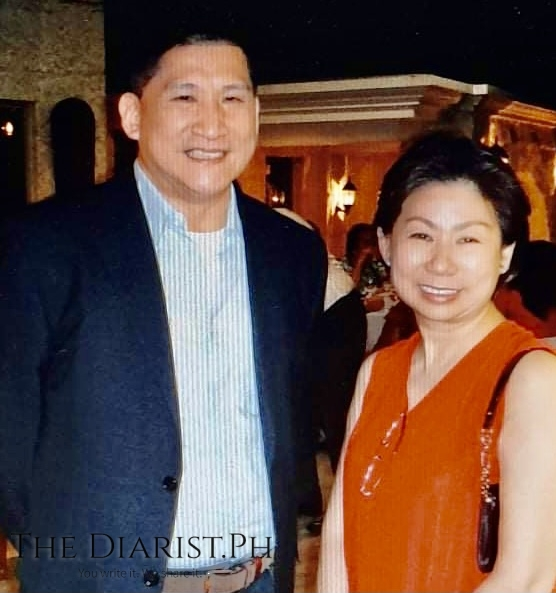 Anthony Nocom acquired most of his designing and merchandising know-how—the feel of market taste—from Tessie Sy-Coson. Both are shown here in Nocom's souvenir photo.