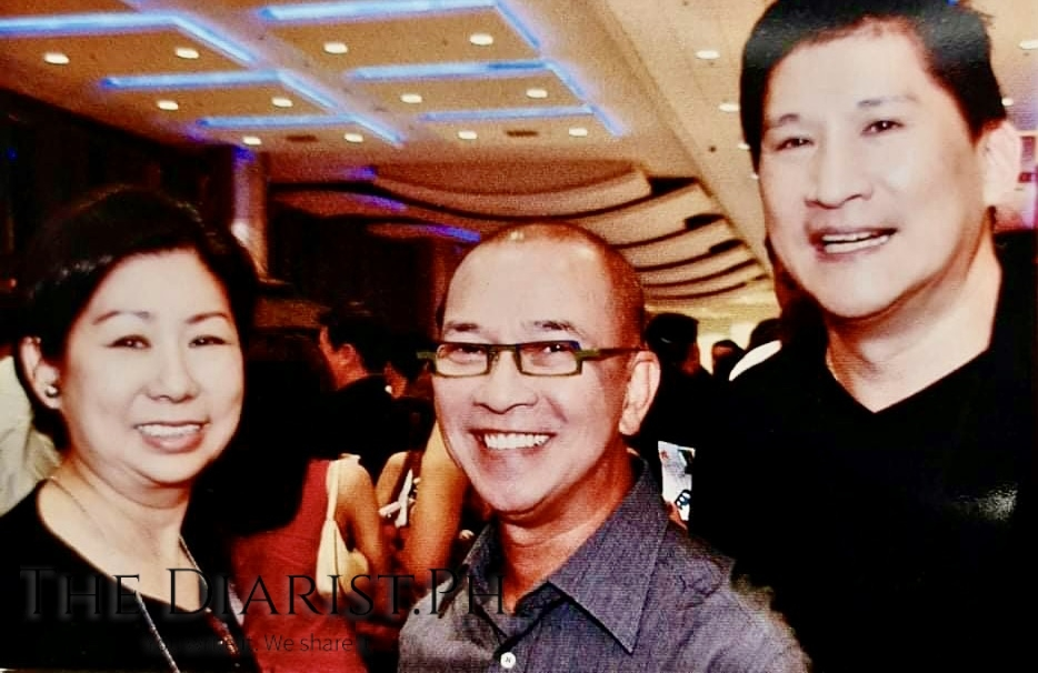 Nocom (far right) with the late Cesar Gaupo, who was one of the country's foremost designers, and Tessie Sy-Coson who served as mentor to both