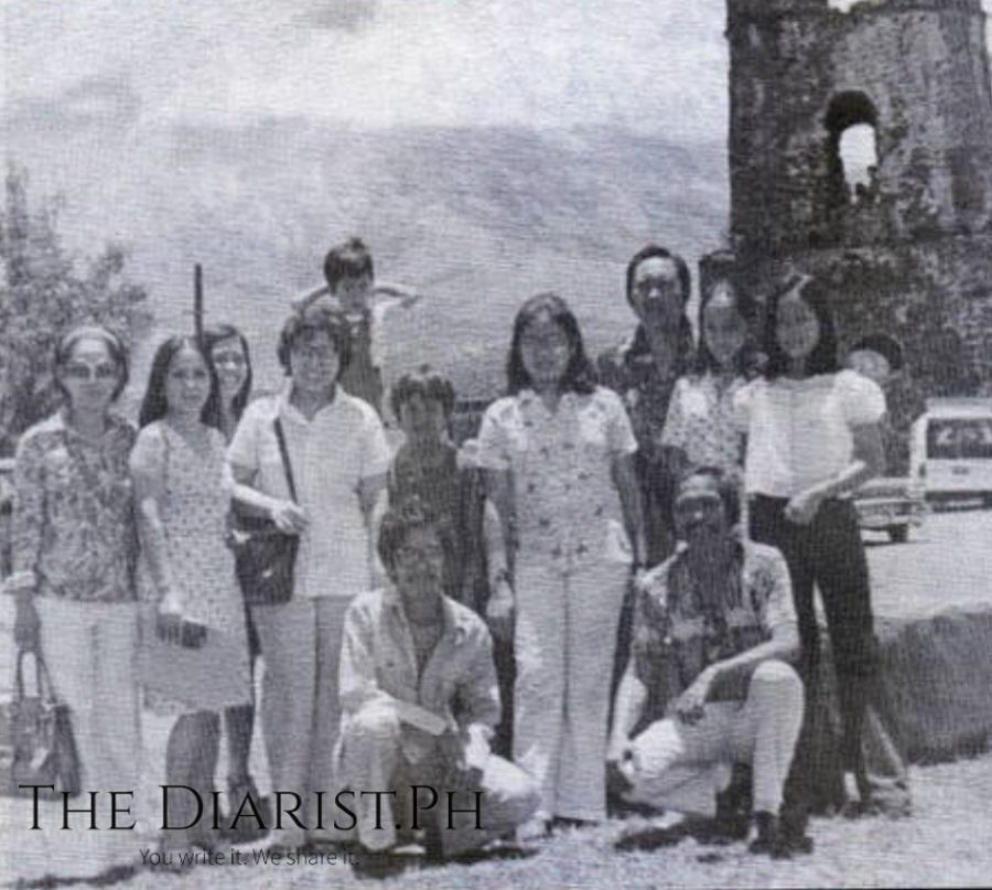 The author's first meeting with Cecile Licad at Cagsawa Church Ruins in Albay, with Rebustillo family, in 1975