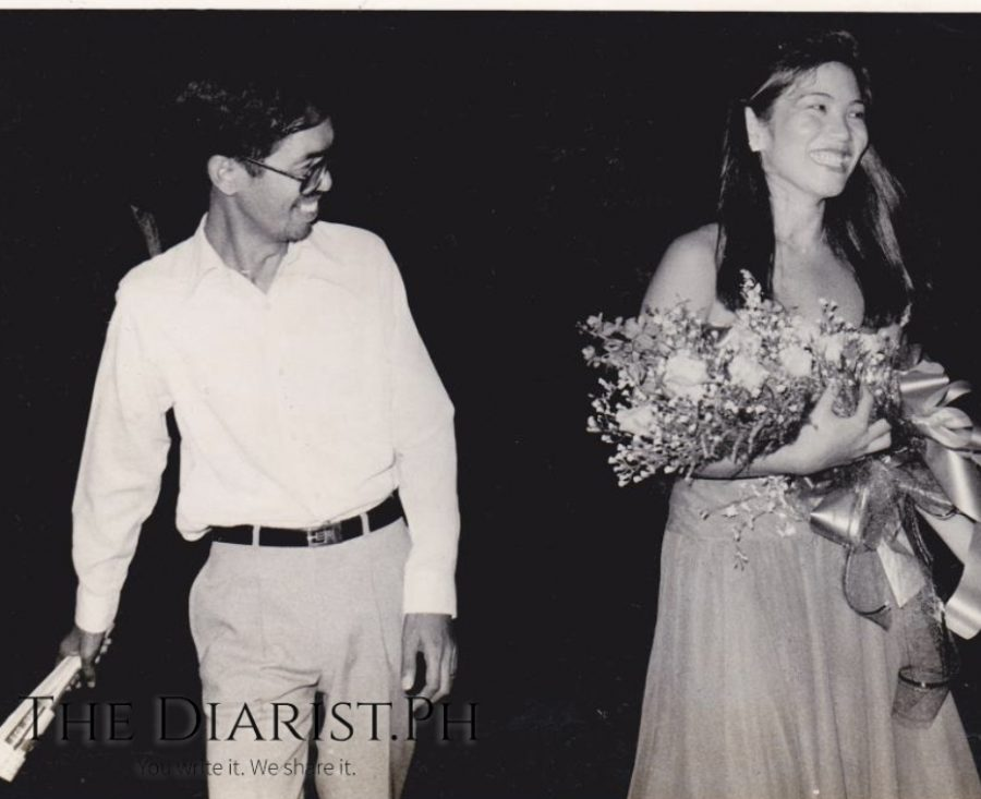 The author backstage with Licad after a Schumann concert at Cultural Center of the Philippines in the early '80s