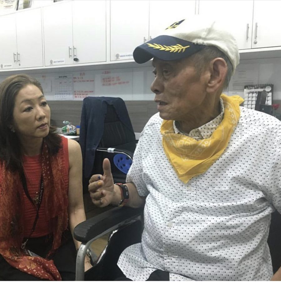 Medalla with Lopez Museum director Mercedes L. Vargas in 2018, as he waited to watch the variety show 'It's Showtime' live, backstage, at ABS-CBN. (Photo from the Lopez Museum and Library)