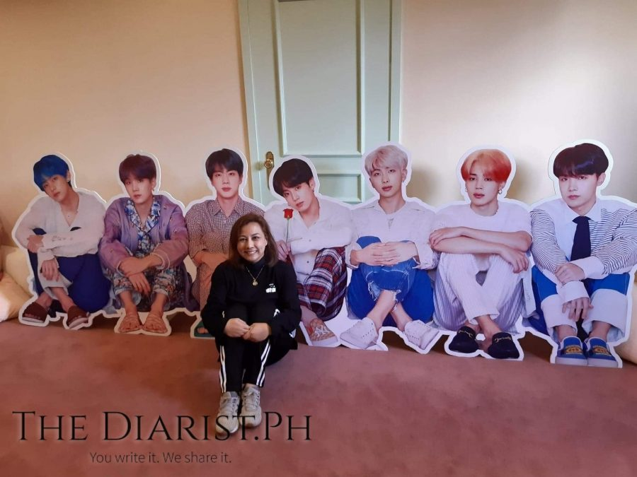 The author getting ready for slumber party with Bangtan at the House of BTS in Seoul in December 2019 (Photo by Nikko Dzon)
