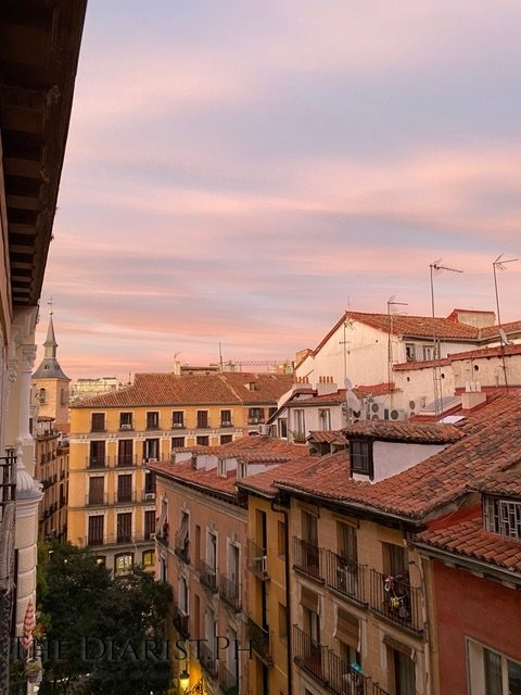 The view from my room in Madrid Centro: the city's terracotta rooftops.