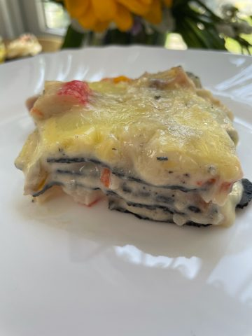 Lola-inspired Squid ink Lasagna