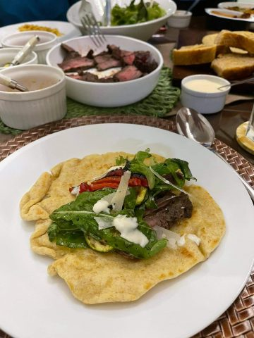 Easiest meal: Grilled steak in pita