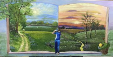 Twinning golf and painting: <br> My sunrise-to-sunset fairway tableaux