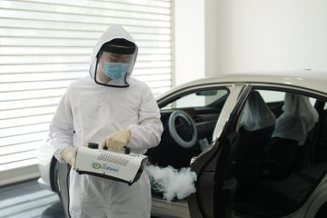 Lexus Backtaklenz promo<br> rids car of bacteria