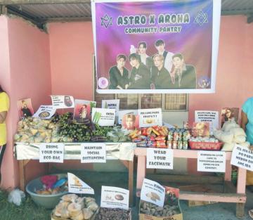 Astro's Aroha hold pantry <br> for Occidental Mindoro farm folk