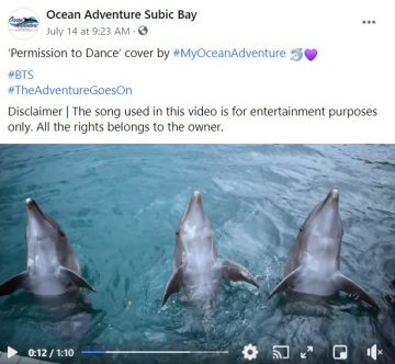 Must dolphins dance to BTS <br> if they're not free?